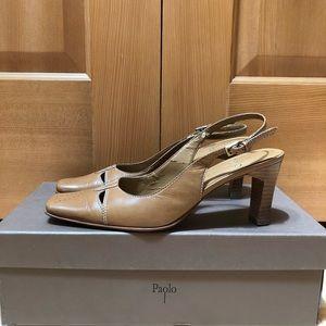 Paolo slingback heels